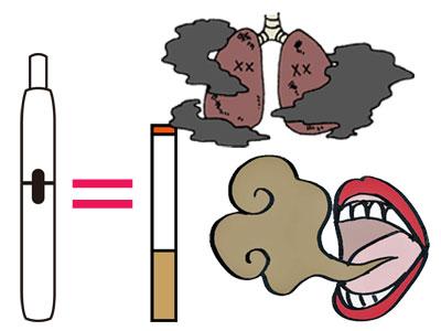 加熱式タバコ 紙巻きタバコ 口臭 肺
